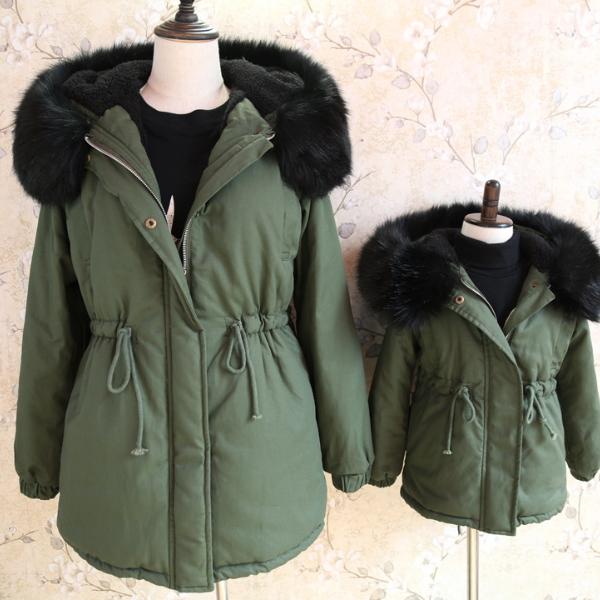 Ms68095c mamma e me moda esercito giacche verdi cappotto invernale per  bambini per il commercio all ada7fed6ba6e