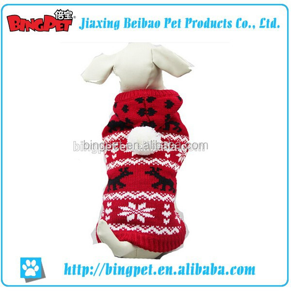Wholesales Pet Cute Sweater With a Hat Dog Warm Snowflake Clothes New Design Fashion Low Price Pet Clothing Dog
