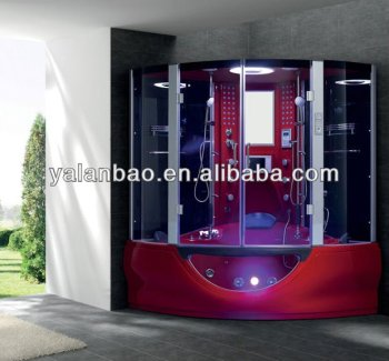 Wet Steam Sauna Shower Jetted Bathtub Luxury Family Shower Room