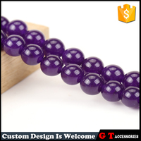 2017 Hot Style Purple Chalcedony Semiprecious Stones Charm Loose Beads