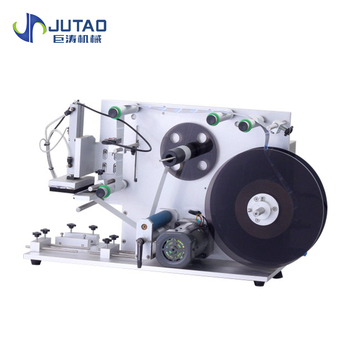 High quality Semi automatic label applicator sticker flat labeling machine