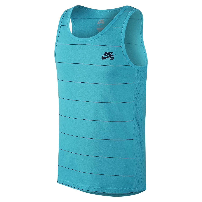 Nike Mens Tank Top - Nike SB Dri-FIT Yarn-Dye Omega Blue/Obsidian V56j7562