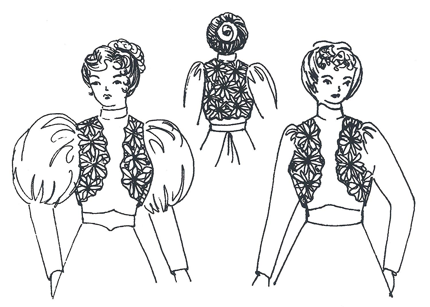cheap victorian edwardian find victorian edwardian deals on line at Colonial Tricorn Hat Template get quotations victorian edwardian bolero pattern and instructions