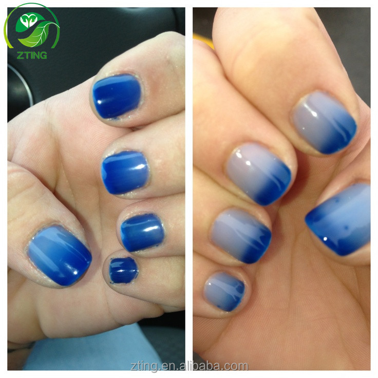 New arrival Temperature changing gel polish nice color changing gel polish