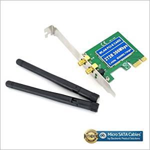 PCI-E 11n 802.11b/g/n 300Mbps 300M WiFi Wireless Card Adapter