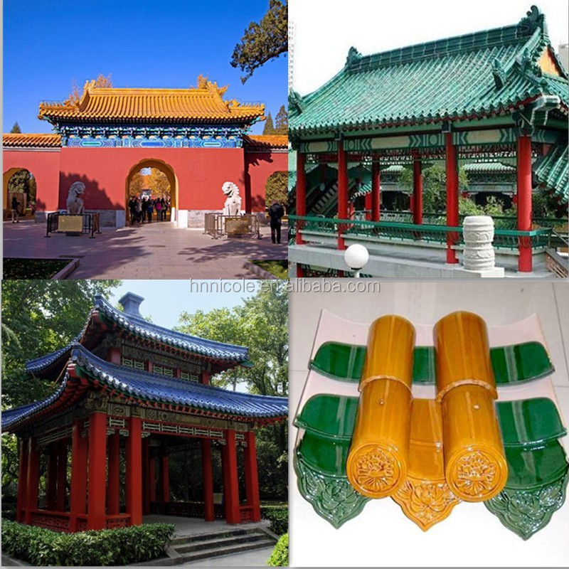 Old Chinese Style Building Glazed Ornament Roofing Tiles