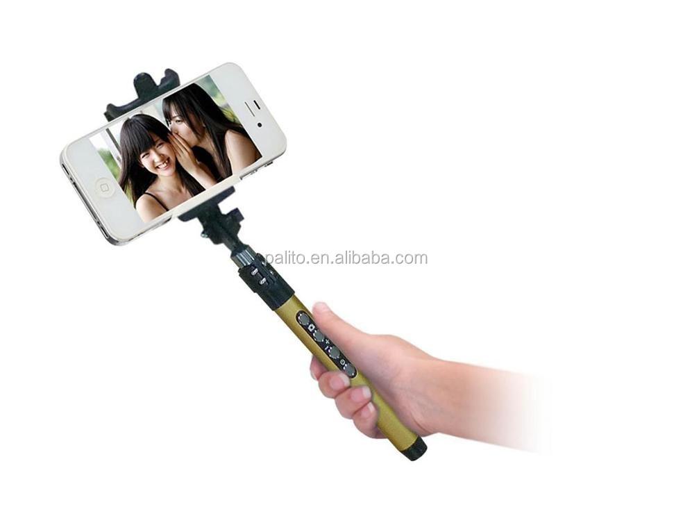 2 in 1 handheld monopod selfie stick monopod with bluetooth shutter,wireless bluetooth remote control monopod self-timer