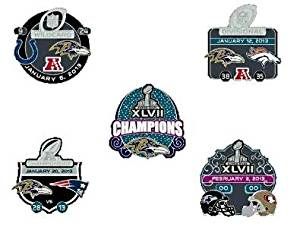 NFL 2013 Super Bowl Xlvii 47 Champions Baltimore Ravens - 5 Pin Set - Limited Ed. Only 5000 Made