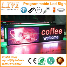 2017 low price P5 P10 outdoor full color digital scrolling text moving message mini neon open programmable led sign board