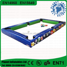 High Quality Inflatable Soccer Billiard Pool Table For Snooker Ball Game