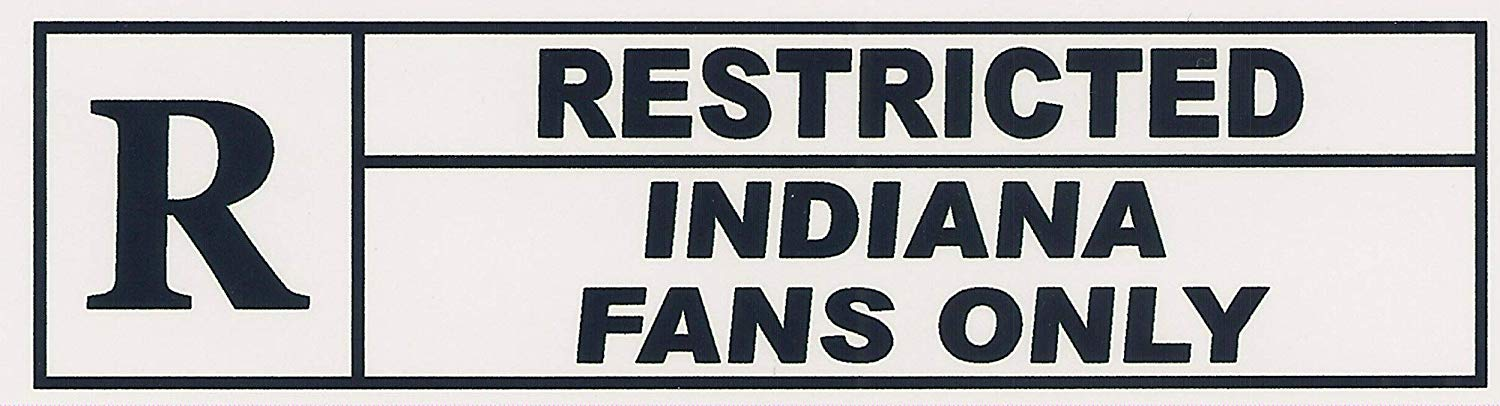 """RESTRICTED INDIANA FANS ONLY"". Funny Refrigerator Magnet.""FREE SHIPPING ON THIS ITEM"". This flexible magnet is available for quick shipping. Two sizes. Great Item."