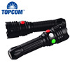 11 leds Manual Rechargeable Torch Flashlight LED Magnetic Railway Signal Light
