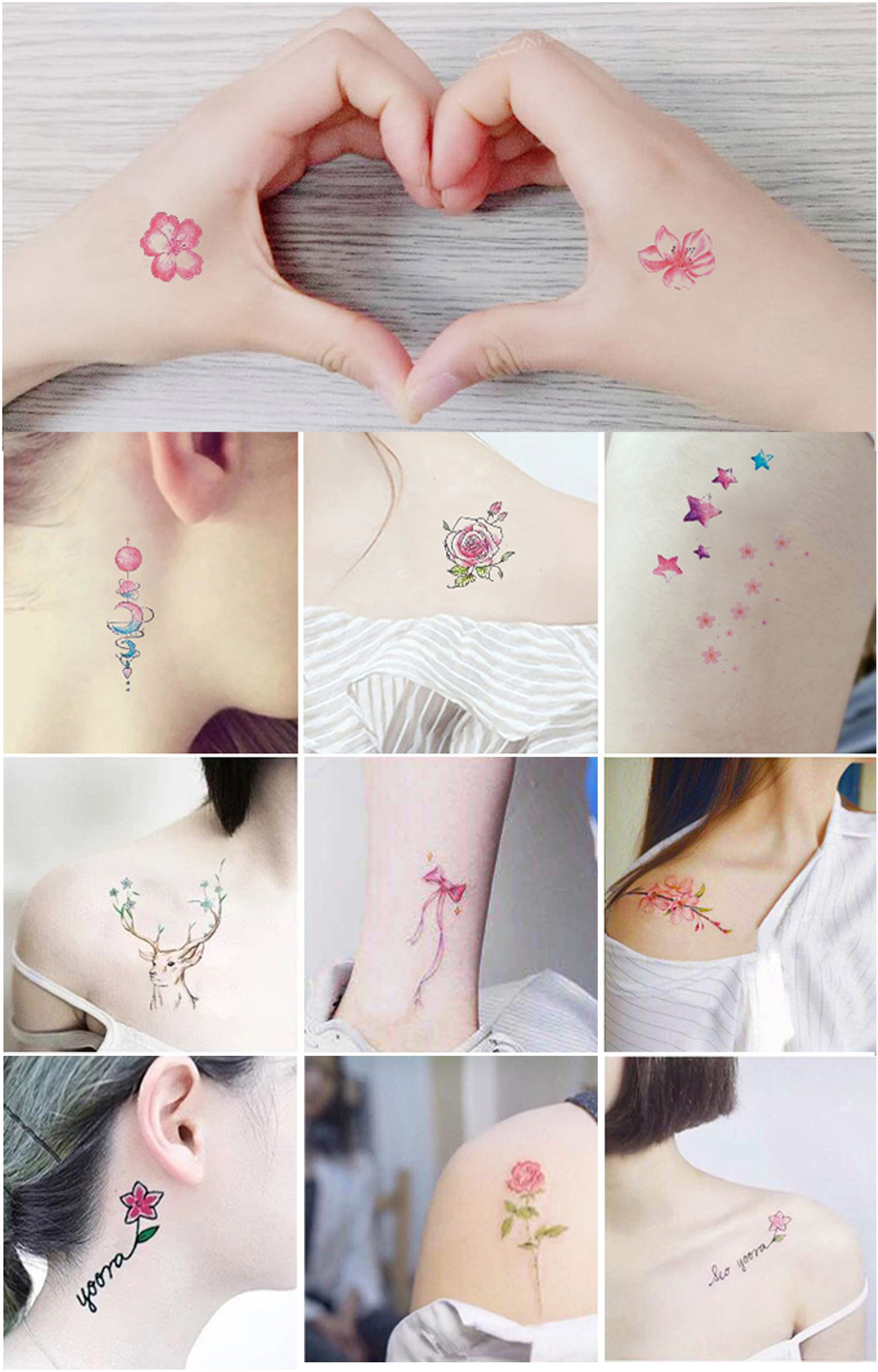 Fashion design body temporary tattoo sticker for adult