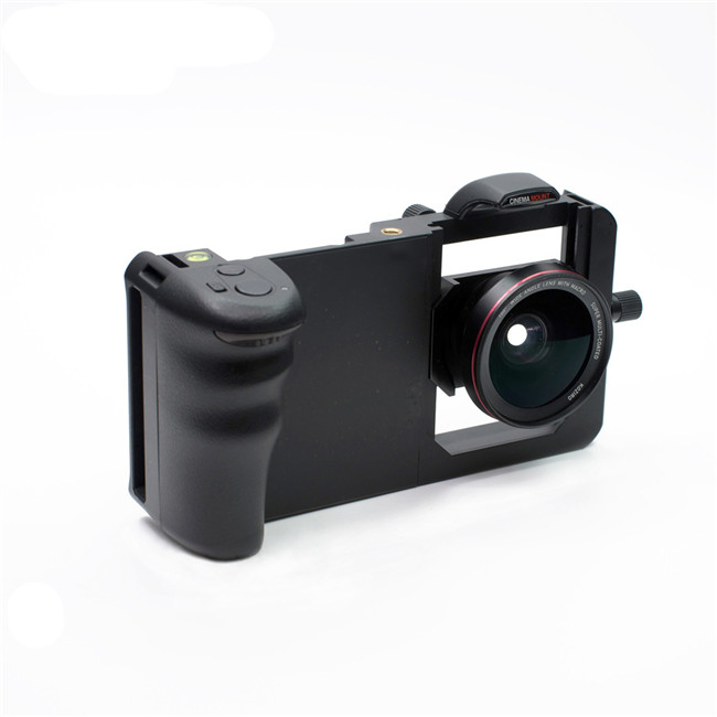 Universal Phone Camera Cage Stabilizer Portable Housing Frame with Wide Angle Lens