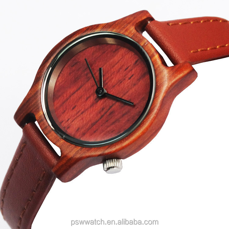 Sale on line separated wood bezel silk printing face engrave artwork wooden watches from china