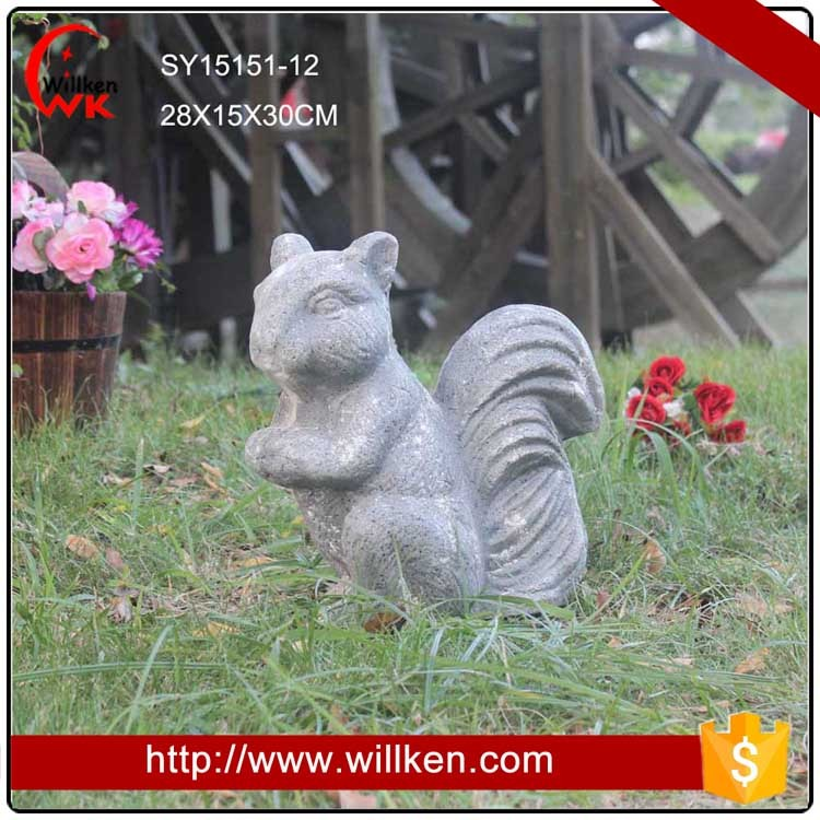 Concrete looking handmade outdoor animal garden decoration