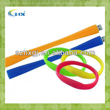 G-factory price high speed silicone bracelet usb