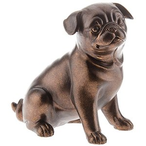 lovely Resin Copper Brown Pug Dog Resin Figurine