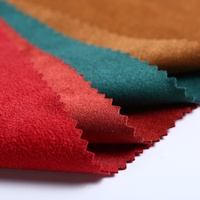 100% polyester knitted sueded jersey double sided faux suede leather fabric