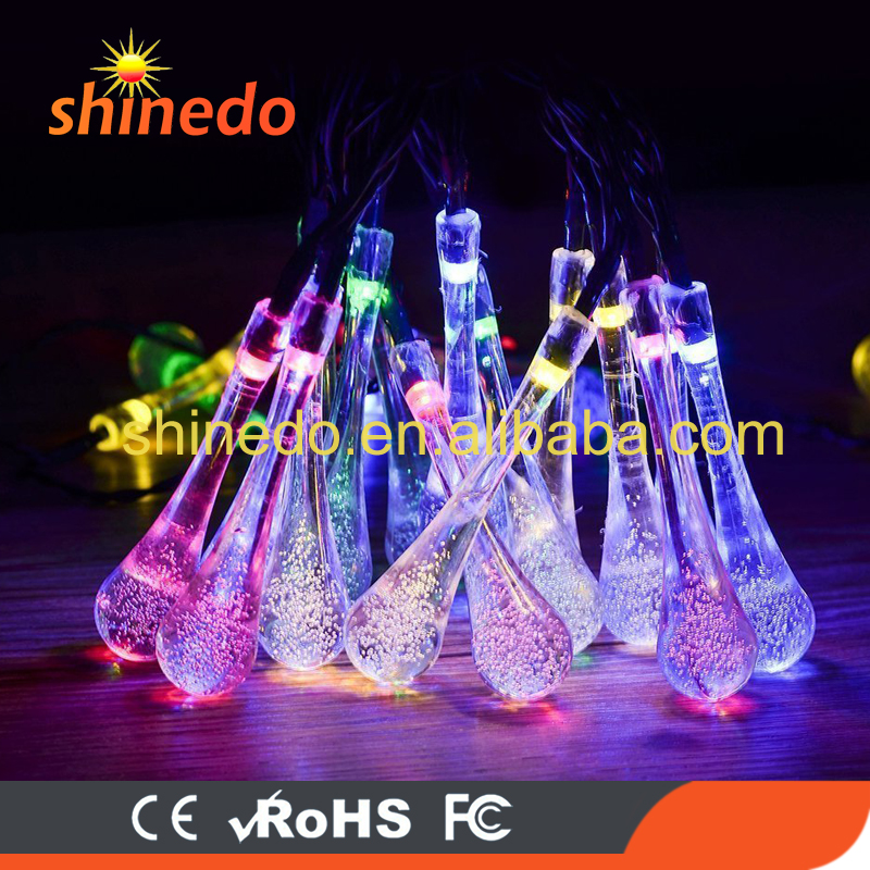 Shinedo holiday decoration led crystal ball water drop fairy Christmas solar string light
