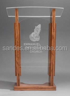 Clear Acrylic Lectern with Painting
