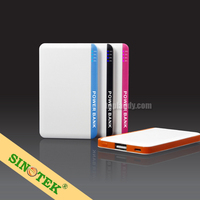 SINOTEK with 4G U disk 2300mah mobile phone credit card power bank