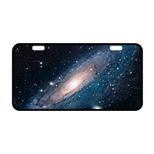 11.8 X 6.1 Durable Metal license plate , Custom Space Nebula Universe Galaxy Pattern car tag (2 Holes) by Nebula License Plate