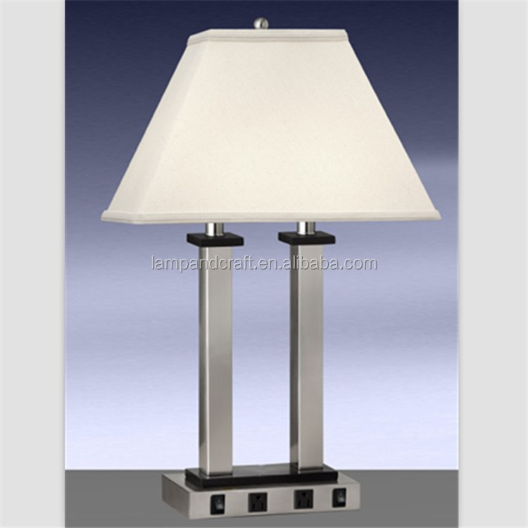 2015 Ul Cul Power Outlet Bedside Hotel Table Lamp With Switch ...