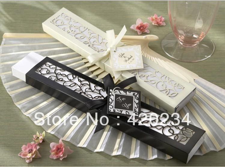 Luxury Wedding Gift Ideas: Luxurious Silk Fan In Elegant Gift Box Of Wedding Favors