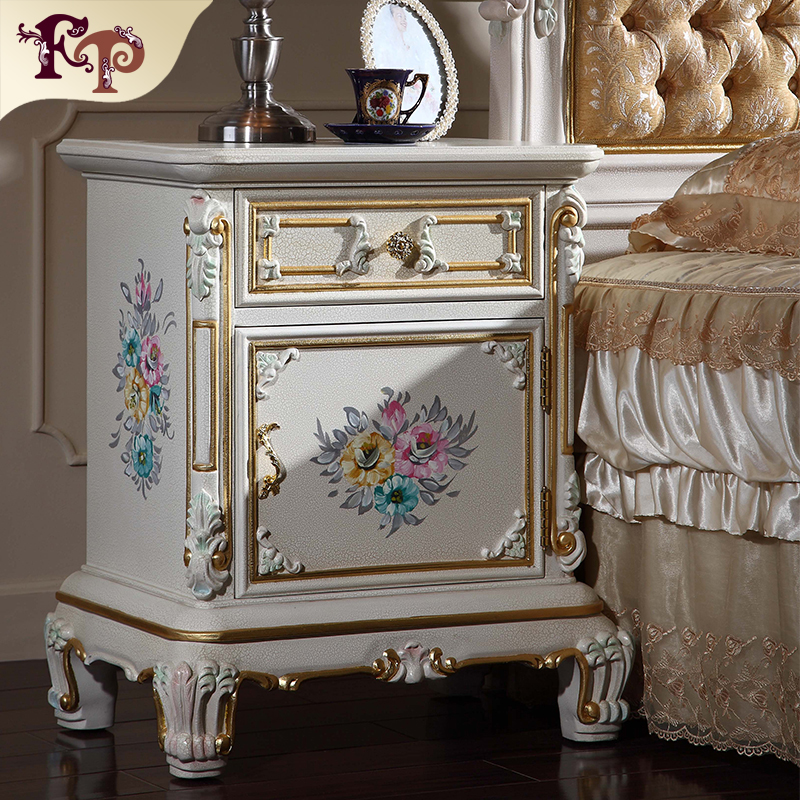 French Provincial Bedstand Antique Furniture Italian Reproduction