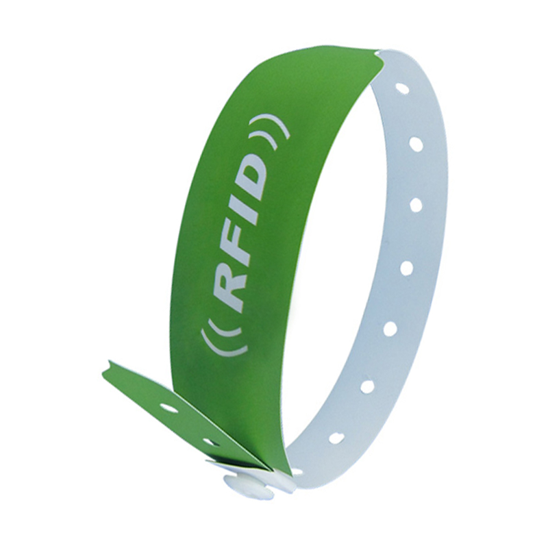 NFC Paper/PVC Wristband one time use disposable rfid wristband