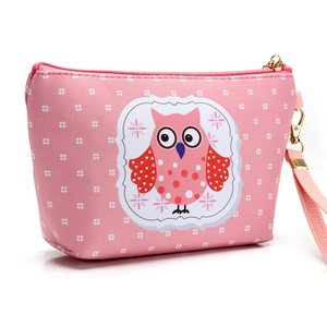 Top quality 3D animal print canvas cosmetic make up bag