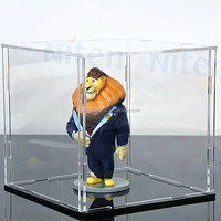 Factory sell Acrylic electric rotating display box case with turntable