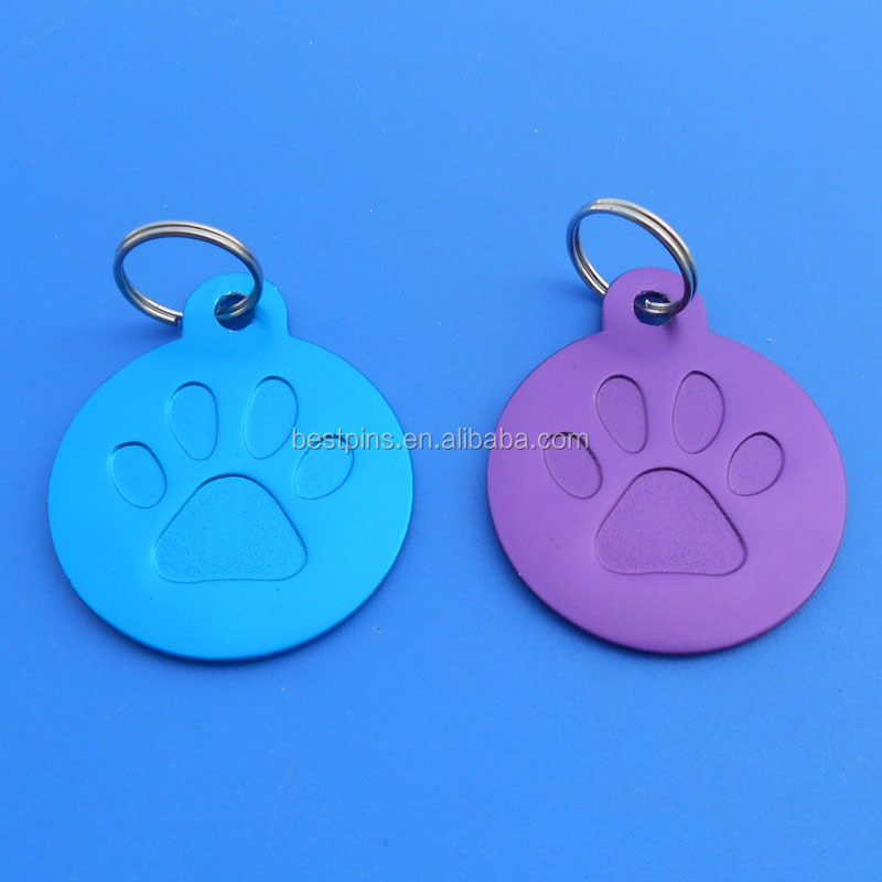 Round Paw Dog Pet ID Tags Disc Dog tag or Cat tag Engraved for laser machine