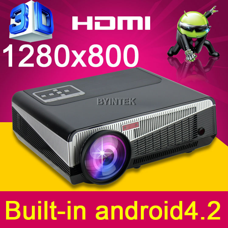Bright Daylight Built-in Android 4.2 OS Wireless Wifi The Home Theater HD Video 1080P TV HDMI USB LED 3D Projector proyector 4