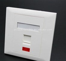RJ45 faceplate , 86 type 1 port face plate