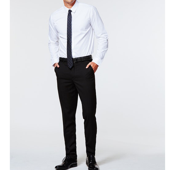 Bespoke Shirt And Pant Combination Classic Charcoal Mens