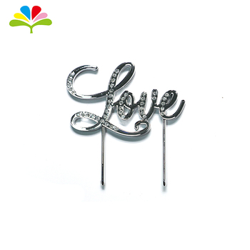 Art & Craft Silver Happy Birthday Cake Topper For Birthday Cake Decoration