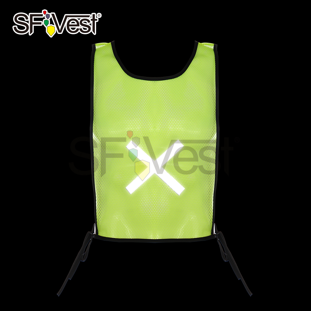 Promotion 100% Polyester Personal Security Fluorescent Mesh Cycling Motorcycle Reflective Jogging Running Green Safety Vest