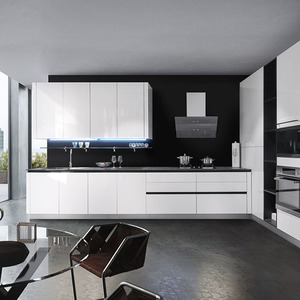 waterproof affordable modern white high gloss finish lacquer kitchen cabinet