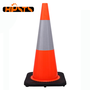 28 inch traffic signal road safety barrier pvc cone