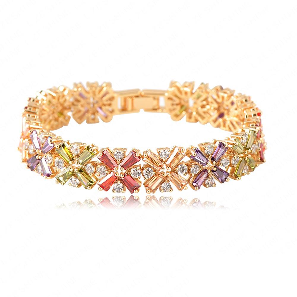 Beautiful Bracelets Radiation Shaped Flower Bracelet 18K ...