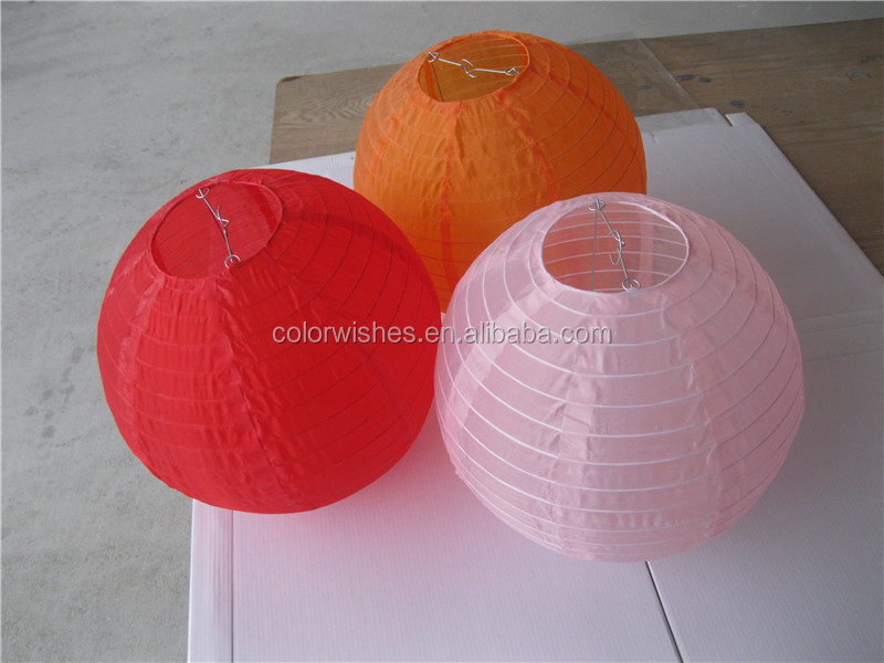Round Chinese Japanese Nylon Silk Lantern Outdoor Hanging Decorations