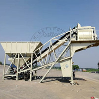 Semi-Trailing Mobile Concrete Batching Plant For Ongoing Project