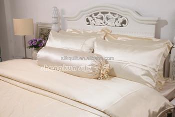 19mm Plain Ivory White 100% Silk Bedding Sets With Oeko Tex Standard 100
