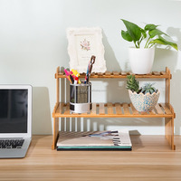 2 tier bamboo plant stand in your office desk