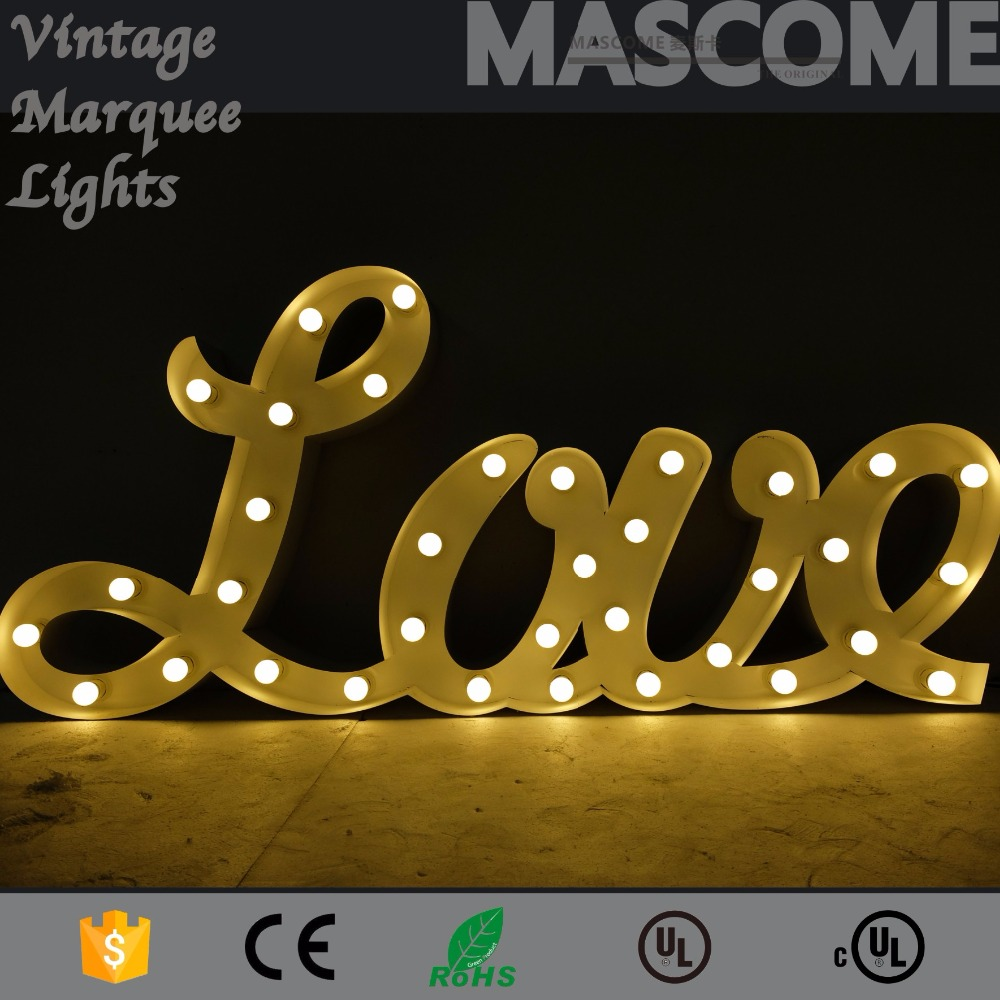 size,color,font custom-made, design for free,40cm,50cm,60cm height,LED bulb sign for decoration,sale