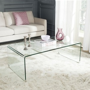Clear Acrylic Waterfall Console Table Coffee Table Lucite TV Stand Monitor Riser