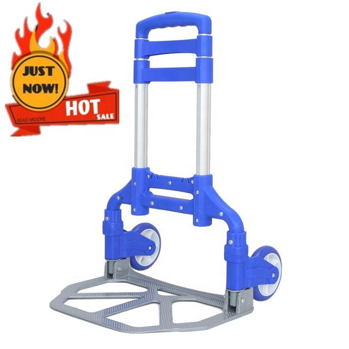 Aluminium alloy  3 wheels stair climbing  foldable carts folding shopping trolley