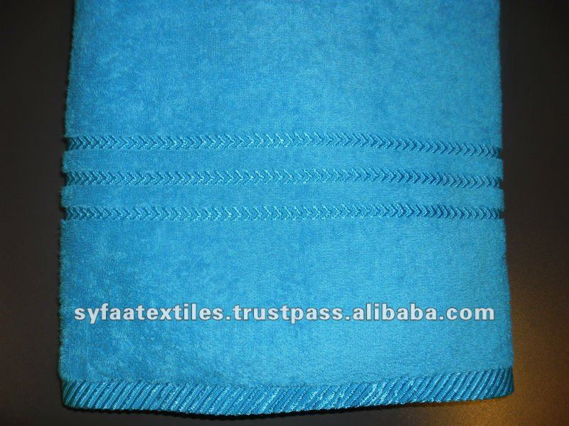 100% Cotton Heart Plain dyed Towel with border